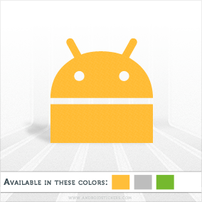 Android OS Fancy Logo Decal