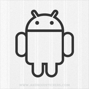 Android Logo Decal - Outlined