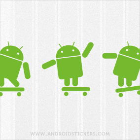 Android Skateboarding Decal