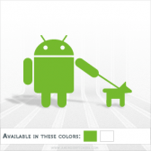Android Walking the Dog Decal