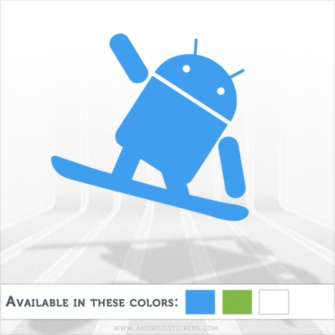 Android Snowboarding Decal