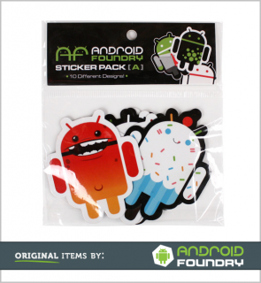 Android Foundry 10 Piece Sticker Set [A]