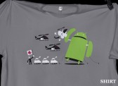 Android Versus Apple T-shirt