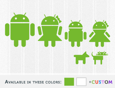 Android Family Decal