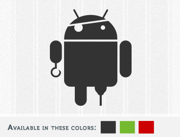 Android Pirate Decal, Yarrr!