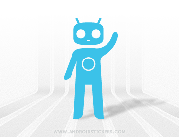 Android Cyanogen Mod Decal vr.2